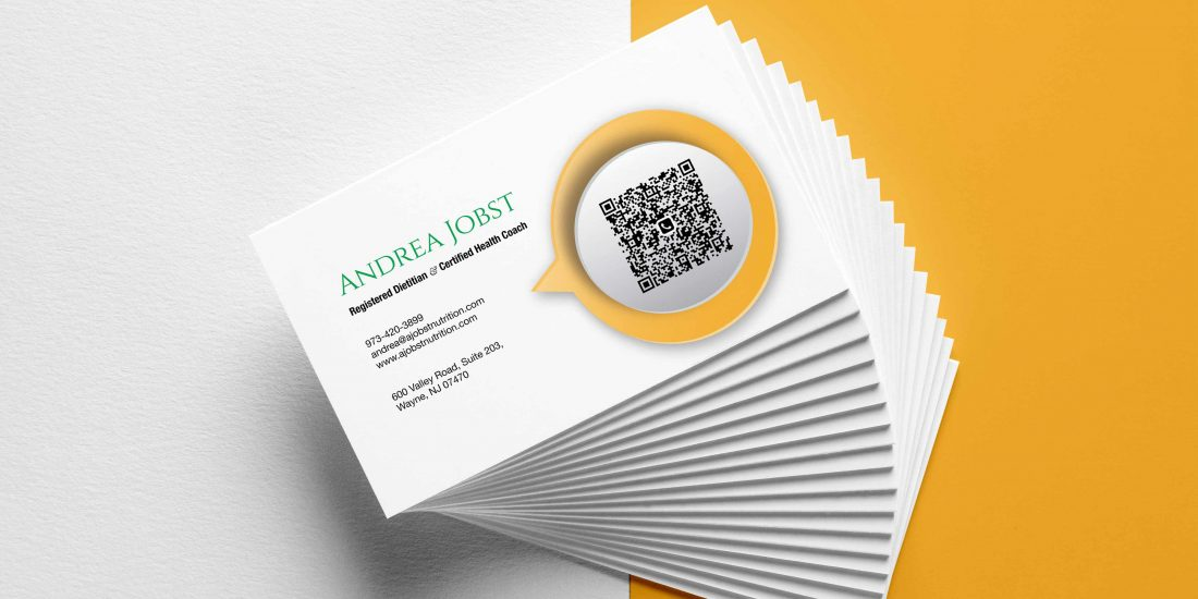 Business Cards for A Jobst Nutrition — Registered Dietitian ...
