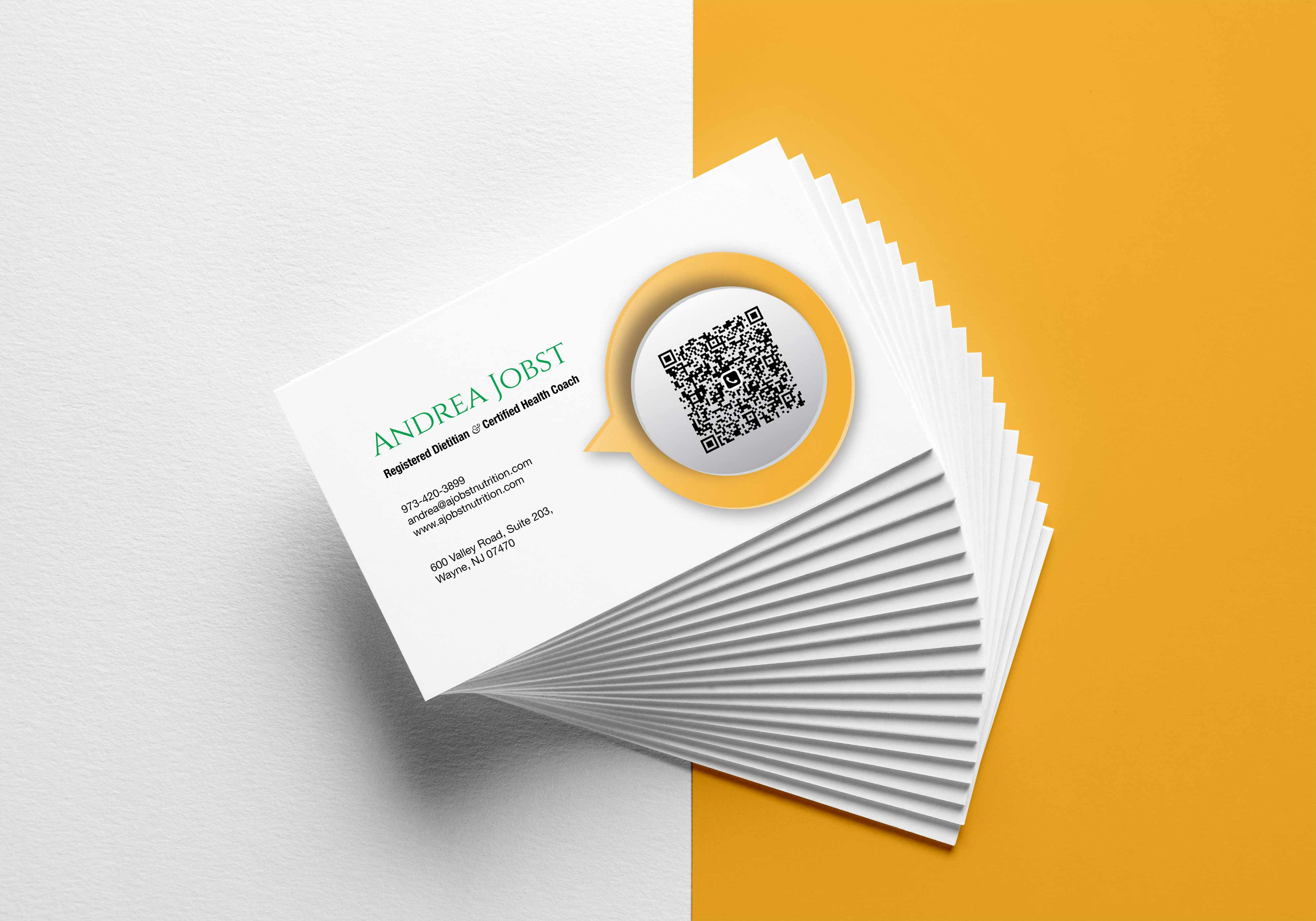business cards for a jobst nutrition — registered titian