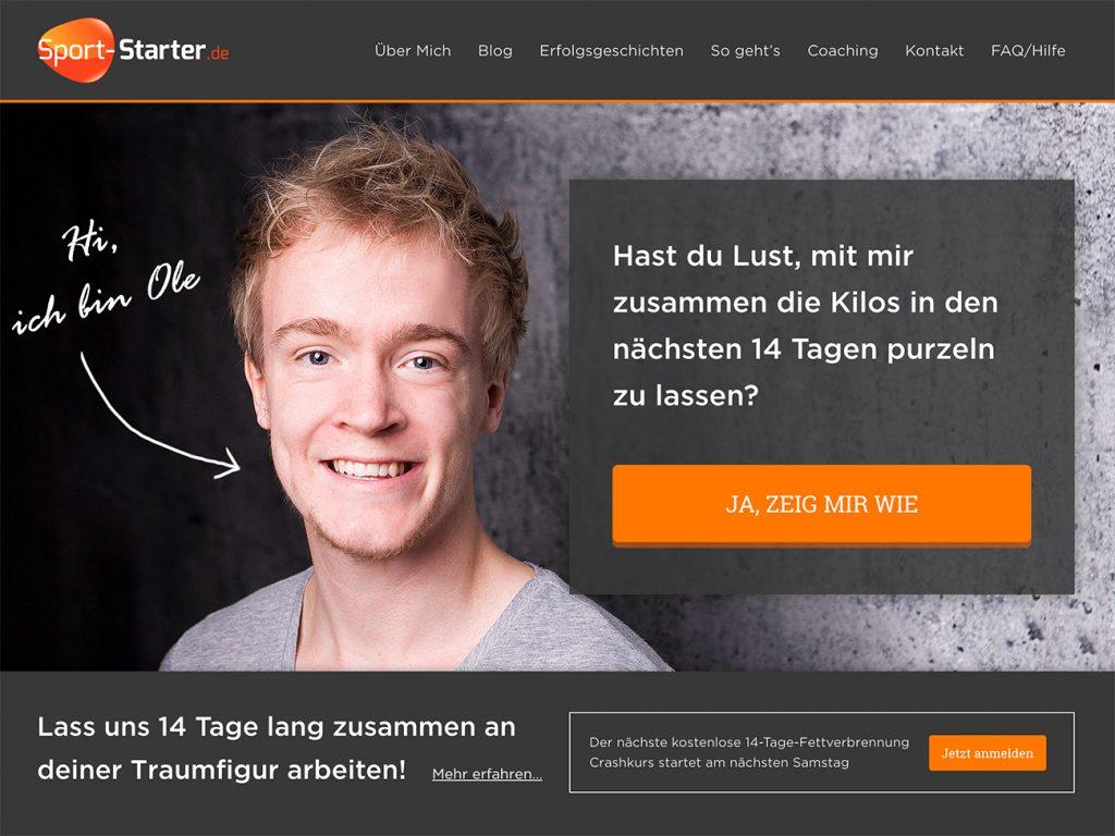 Sport-Starter.De — Genesis based Sports and Fitness Website